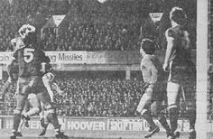 Everton 2 Nottm Forest 3 in Oct 1978 at Goodison Park. A header from Bob Latchford sails over the bar in the League Cup 4th Round.