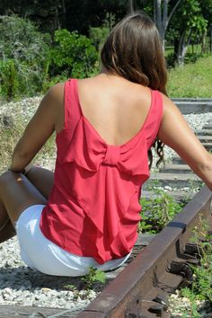 $29  SUGAR AND SPICE RED BOW BACK TOP - Shop Simply Me Boutique – www.SHOPSIMPLYME.com    #shopsimply