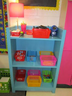 Community shelf with supplies