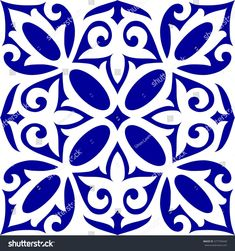 Geometric Islamic Seamless Pattern Arabesque blue and white, patchwork
