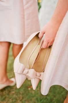 Nude pointed toe heels: http://www.stylemepretty.com/collection/2589/