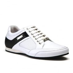 Phoenix M102530 White/Black Great Mens Fashion, Phoenix, Trainers, Bamboo, Sneakers, Sports, Leather, Shopping, Black