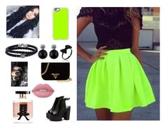 """""""prom"""" by elizabetta-i ❤ liked on Polyvore featuring Prada, Casetify, Lime Crime, Victoria's Secret and Phillip Gavriel"""