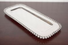 Old Town Imports Aluminum Serveware Beaded Rectangle Tray {PRESALE ONLY}. $34.99 regularly $57.99