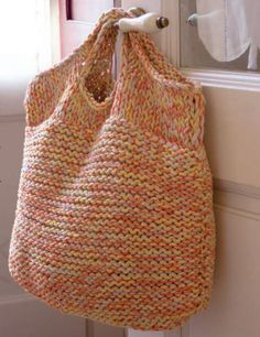 Big Easy Bag Free Knitting Pattern from Katia. Skill Level: Easy Garter stitch bag using bulky yarn, quick and easy knit. Free Pattern