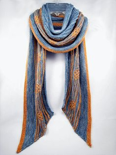 """""""Orion's Belt"""" is a shallow crescent shawlette knitted top-down in Finch 100% wool by Quince&Co."""