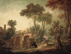François Boucher (French 1703–1770) [Rococco] The Bridge, 1751. Louvre.