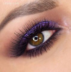 Love this bold purple look