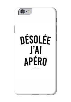 DÉSOLÉE J'AI APÉRO - #JaimeLaGrenadine #citation #punchline #coque #case #apero