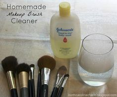 When was the last time your brushes had a wash? Try this DIY makeup brush cleaner.