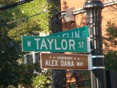 taylor street sign