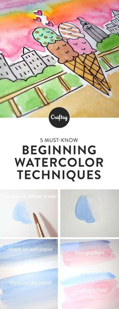 You've assembled your watercolor paint. You have brushes, paper, and water for mixing. Now all you need is to learn what to do with all of your cool watercolor gear! Intimidated? Don't be! These watercolor techniques for beginners will set you on the right path for your painting journey.