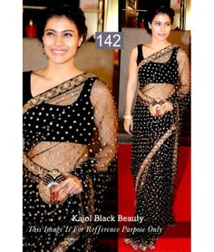 Bollywood Special - Bollywood Replica - Kajol Designer Black Net Saree - 142 - Products Details :Style : Bollywood Replica Wedding Wear / Party Wear Saree Saree Size : Free SizeLength Of Bollywood Sarees Online, Bollywood Designer Sarees, Sarees Online India, Latest Designer Sarees, Bollywood Fashion, Indian Wedding Outfits, Indian Outfits, Indian Clothes, Desi Clothes