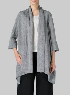 MISSY Clothing - Linen Open Front Jacket