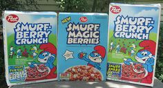 Smurf-Berry Crunch Cereal