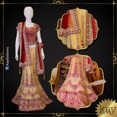 Red & sandalwood netted lehenga embellished with stones and laces with jhumkas and brocade designs to give you a very ethnic and modern look.  http://www.kayfashions.in/#!/ #fashion #indian #weddings #bridal #lehenga #ghagra #anarkali #salwar #designer #ethnic #boutique #chennai #shopping #triplicane #dress #clothes #traditional #saree #sari #silksaree