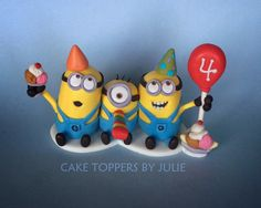 Custom Cakes by Julie: Minion Cake Toppers