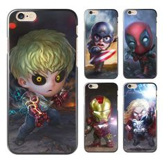 For coque iPhone 5S case 4 4S 5 5C SE 6 6S 7 Plus Cool Q Avengers hard PC cover 2017 new arrivals for fundas iPhone 6S case