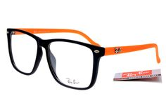 Ray-Ban Square 2428 Black Orange Frame Transparent Lens RB27 [RB272] - $25.88 : Top Ray-Ban® And Oakley® Sunglasses Online Sale Store- Save Up To 85% Off
