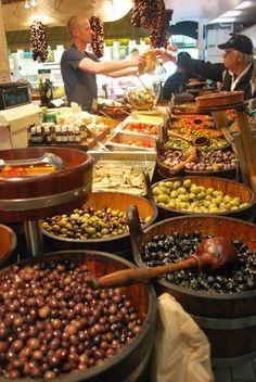 English Market Cork, Ireland Def want to do this! Minus the olive eating. Cork City, Ireland Travel, Ireland Food, County Cork, Irish Eyes, Republic Of Ireland, Luck Of The Irish, Emerald Isle, British Isles