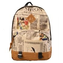 Women Cute Cartoon Owls Pattern Canvas Backpack Shoulder Bag Students Schoolbag Book Bag   cndirect.com