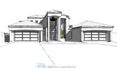 A 5 bedroom double storey house plan for sale. Find modern 5 bedroom house plans with 4 garages, 5 bedroom Tuscan house plans with photos and 6 Bedroom House Plans, 4 Bedroom House Designs, Garage House Plans, Tuscan House Plans, Modern House Floor Plans, House Plans For Sale, House Plans With Photos, Double Storey House Plans, Built In Braai