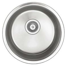 Belle Foret Undercounter Stainless-Steel 15-1/2 in. x 15-1/2 in. Single Bowl Round Entertainment Bar/Prep Sink-BF209 - The Home Depot