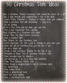 Steeleing Moments: 50 Christmas Date Ideas for Couples dating Christmas Date, Christmas Couple, Christmas Ideas For Husband, Holiday Dates, Christmas 2017, Date Night Jar, Cute Date Ideas, Winter Date Ideas, Gift Ideas