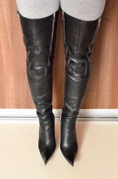 High heels shoes and boots for sale, used and new. Brown High Heel Boots, Leather High Heel Boots, Thigh High Boots Heels, Heeled Boots, High Heels, Crotch Boots, Women's Over The Knee Boots, Sexy Boots, Dame