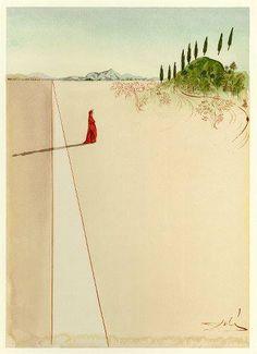 Salvador Dali - Dante Divine Comedy - Departure for the Great Journey                                                                                                                                                                                 More