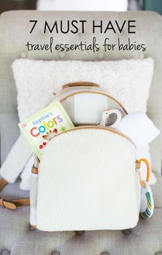Great ideas for what to pack when you're traveling with a baby.