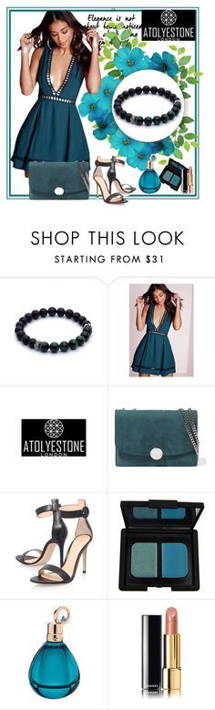 """ATOLYESTONE"" by car69 ❤ liked on Polyvore featuring Marc Jacobs, Gianvito Rossi, NARS Cosmetics, Chopard and Chanel"
