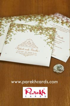 Our Hindu wedding cards collection is finest & represents colorful mood of wedding. Hindu Wedding Cards, Indian Wedding Invitation Cards, Wedding Invitations Online, Elegant Wedding Invitations, Floral Arch, Wedding Card Design, Wedding Preparation, Royal Design, Saree Blouse