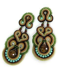 Dori Csengeri hand embroidered and bead earrings. Glorious! $140
