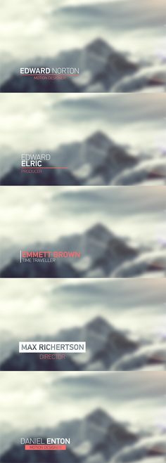Light Lower Thirds - After Effects Project Files | VideoHive