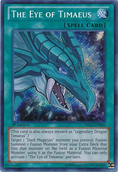 The Eye of Timaeus holo yugioh card auction #7