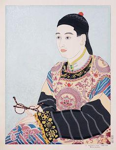 Paul Jacoulet : Le Mandarin aux Lunettes, Mandchoukuo (The Mandarin in Glasses, Manchuria) at Davidson Galleries