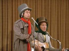 I stumbled upon this old clip of Lenny & Squiggy performing their own Christmas carol, 'A Silent Ho Ho'. Christmas Carol, Christmas Movies, Laverne & Shirley, Teenage Wasteland, Funny Songs, Winter Fun, Celebs, Celebrities, In Hollywood