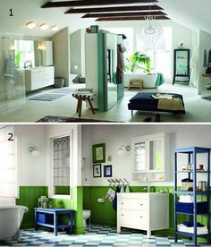 Foto: Which bathroom do you prefer... a. 1 b. 2  *read the article: http://www.polopuentearanda.com/advance-of-the-catalogue-ikea-2014
