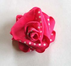 Inspirational Tips, Techniques & Tutorials: Folded Ribbon Rose Tutorial