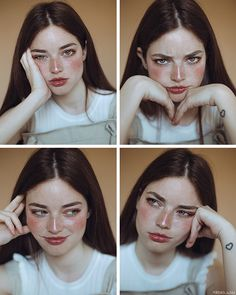 What face describe you today? Pose Reference Photo, Face Reference, Art Reference Poses, Drawing Reference, Art Poses, Portrait Poses, Aesthetic Photo, Aesthetic Girl, Face Aesthetic