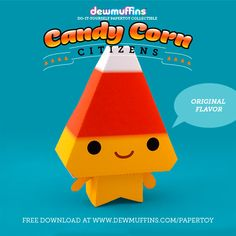 Original Flavor  Dewmuffins Candy Corn Citizens paper toy available for download…