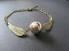 Harry Potter golden snitch quidditch bracelet - Bronze/Gold NEW – UK Seller