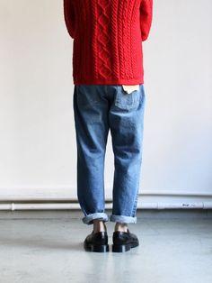 orSlow Standard 5P Denim - Damage - Fashion Photo, Love Fashion, Fashion Outfits, Womens Fashion, Fashion Design, Look Vintage, Vintage Denim, Modelos Fashion, Look Man