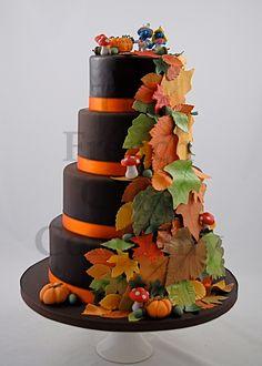 Wedding Cake Autumn - Piece Montee Mariage Automne - Bruidstaart