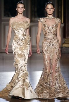 Once again, couture looks to the Far East for inspiration. Zuhair Murad Fall/Winter couture collection was inspired by the Chinese Empress Zuhair Murad, Beautiful Gowns, Beautiful Outfits, Beautiful Flowers, Elegant Dresses, Pretty Dresses, Fashion Vestidos, Designer Gowns, Mode Inspiration