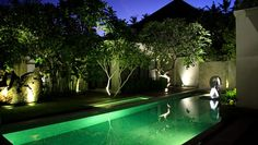 The Amala: The Amala�s towering bamboo walls create a secluded environment in bustling Seminyak.