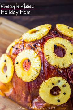 Looking for a special Holiday Ham recipe? This Pineapple Glazed Holiday Ham is a show-stopper! Baked Ham With Pineapple, Pineapple Glaze, Easter Ham Recipes Pineapple, Easter Recipes, Holiday Ham, Holiday Recipes, Christmas Recipes, Holiday Dinner, Holiday Meals