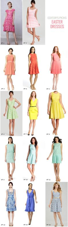// Spring Dresses by Modern Eve - pair them with an accessory from www.theaccessoryreport.com? :)