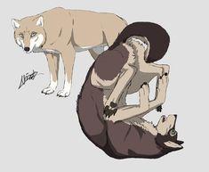 SnK Wolves - Eren And Annie by Nicicia on deviantART